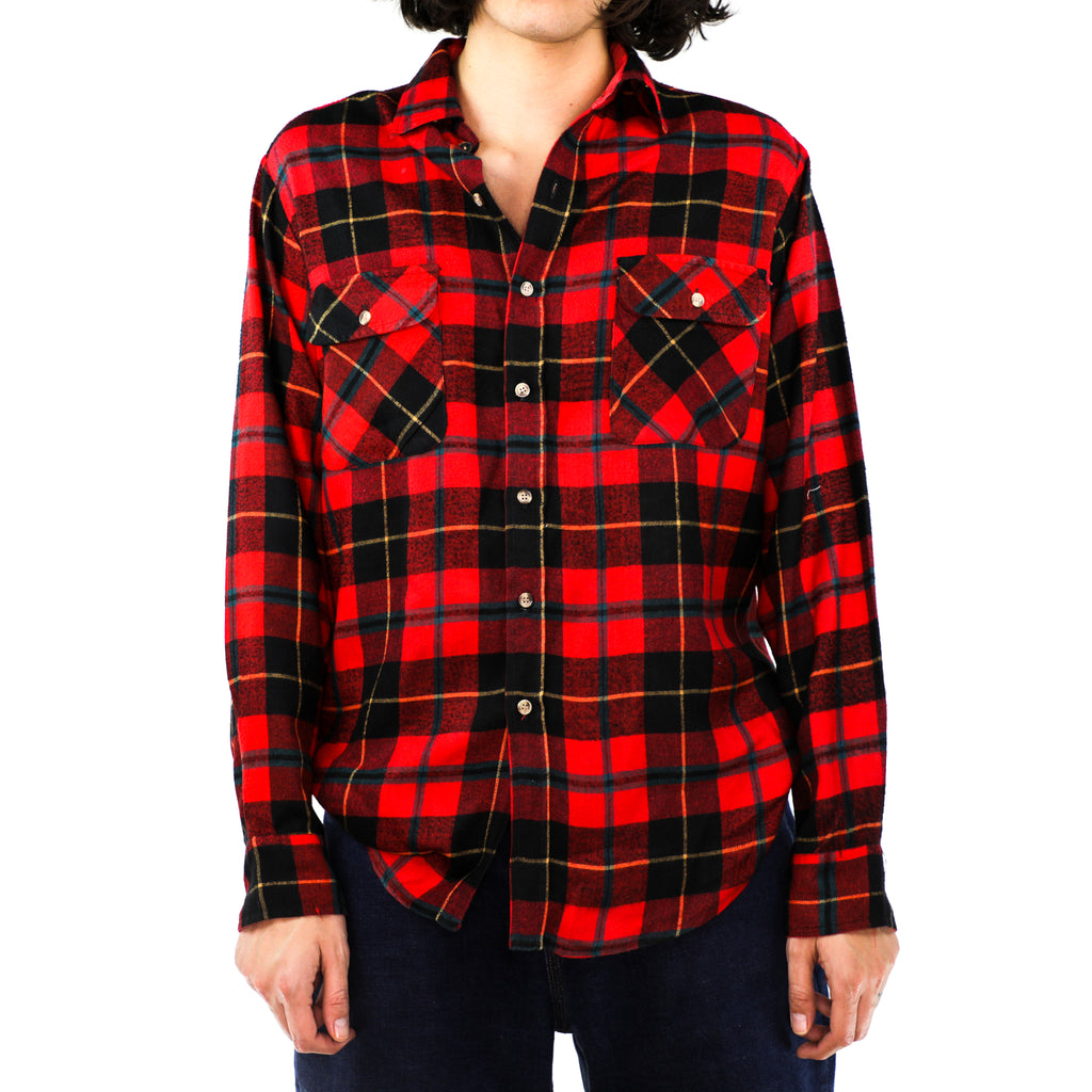 Ferrari Red & Black Plaid Flannel