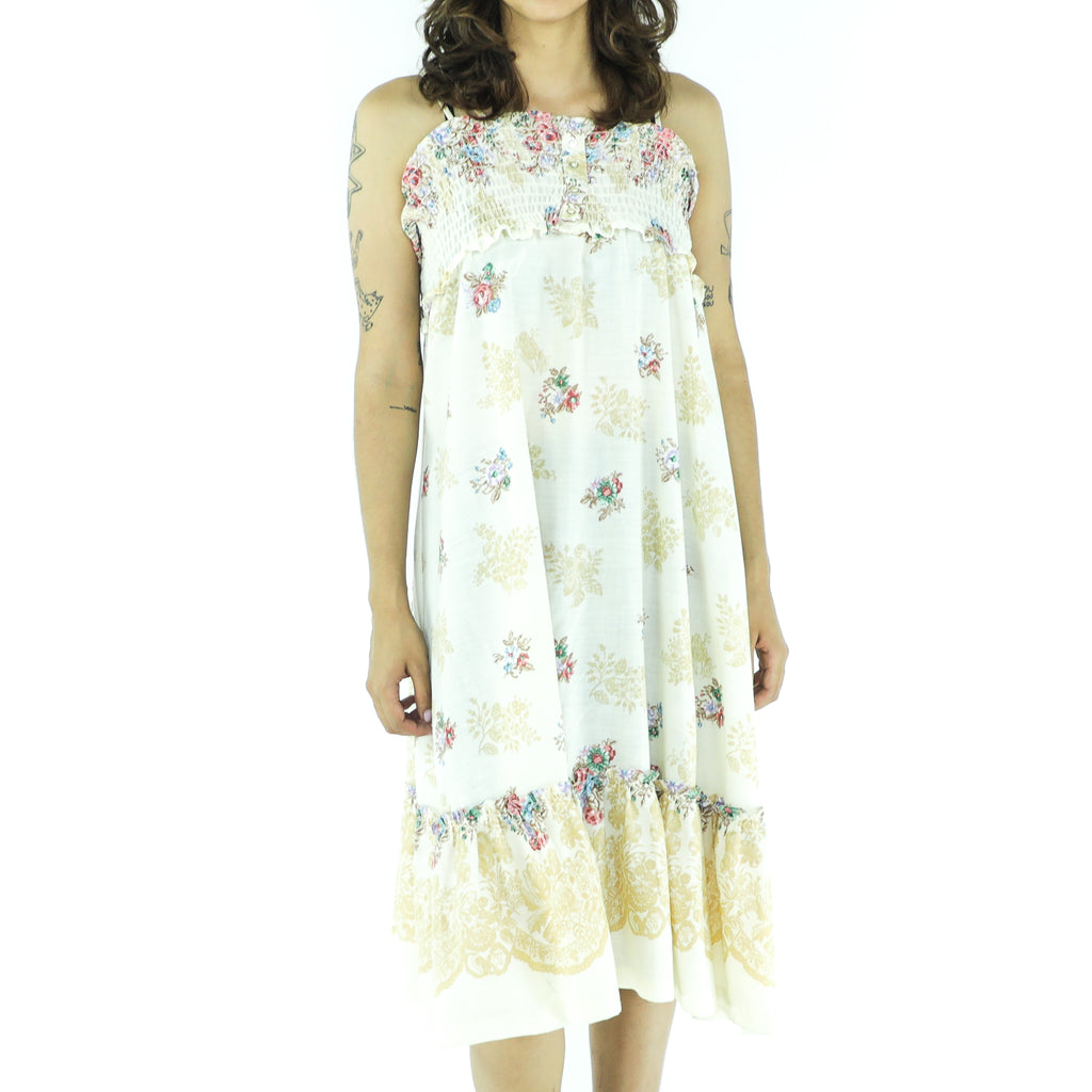 Vintage Cotton Empire Line Dress
