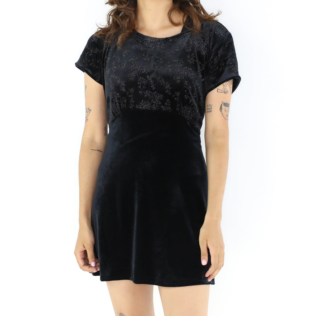 Black Velvet 60's Mini Dress