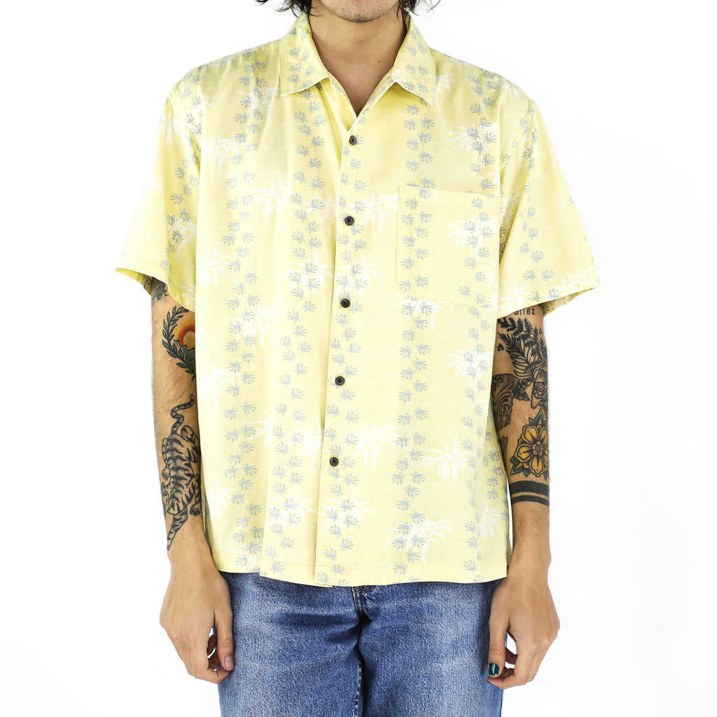 Banana Palm Print Cotton Shirt