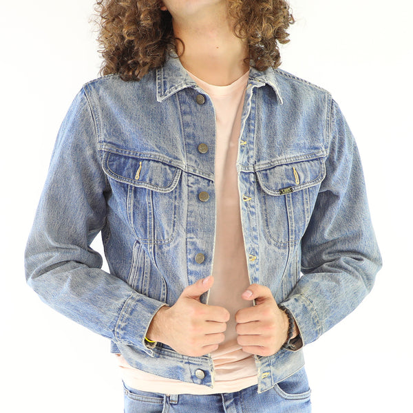 Baby Blue Vintage Lee Denim Jacket