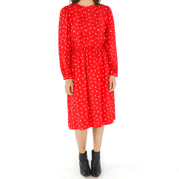 Candy Apple Red Foulard Snow Dress