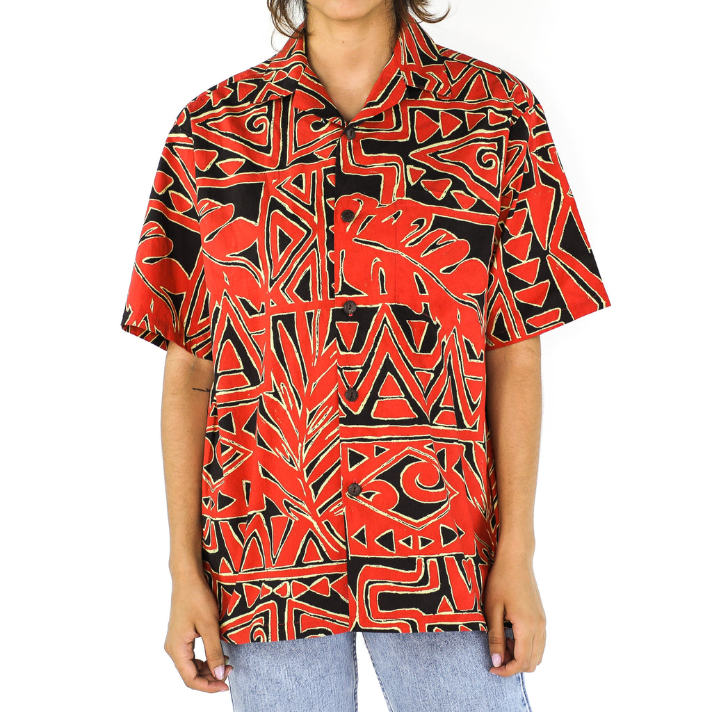 Red & Black Abstract 90's Shirt