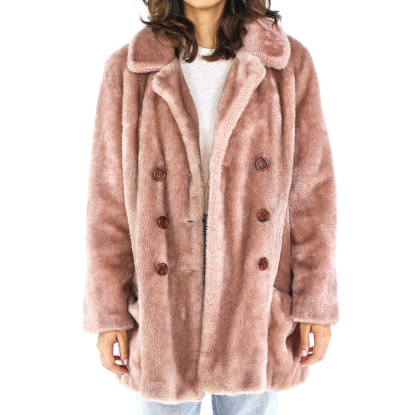 Puce Faux Fur 90's Coat
