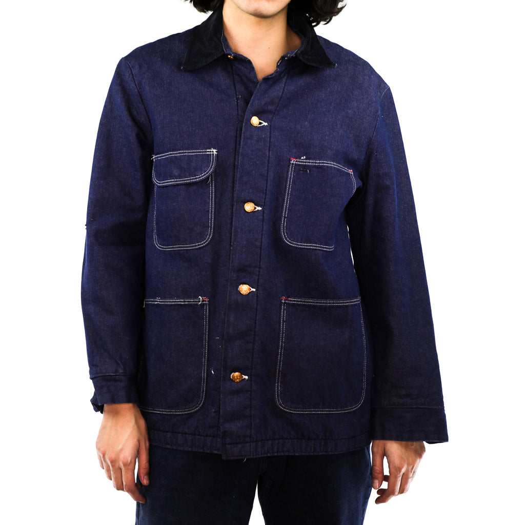 Navy Blue Cotton & Denim Jacket