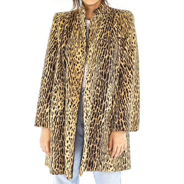 Tiger Faux Fur 80's Coat