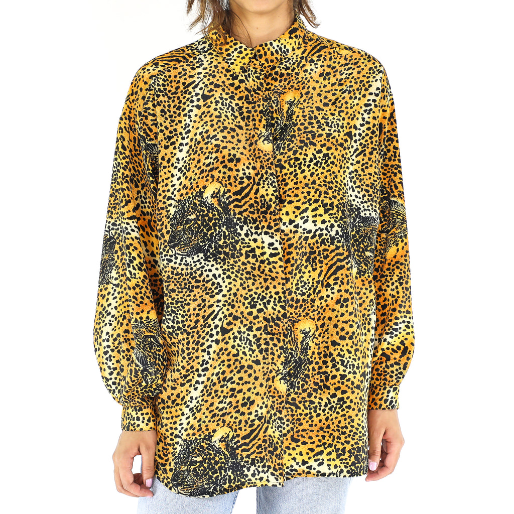 Cheetah All Over 80's Blouse