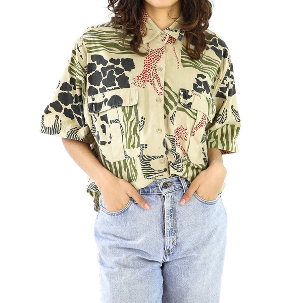 Olive Zoo Keeper Cotton Blouse