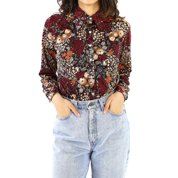 Fruits 70's Long Sleeve Blouse