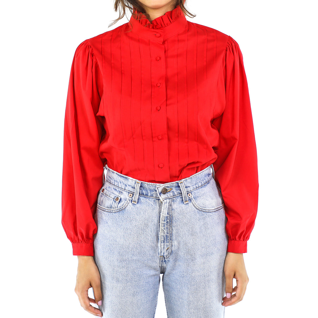 Scarlet Victorian Long Sleeve Blouse