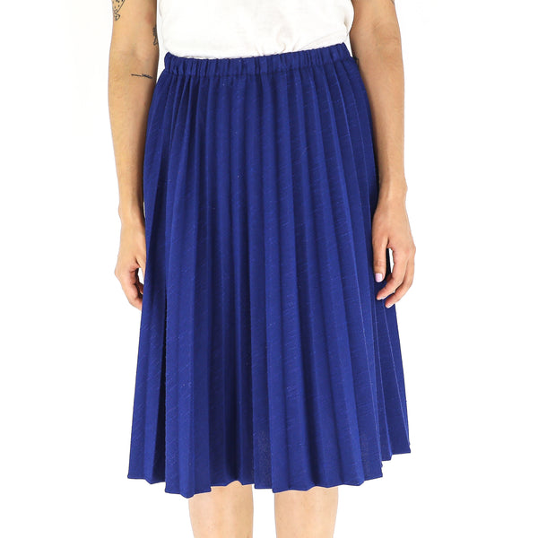 Persian Blue Accordion 80's Skirt