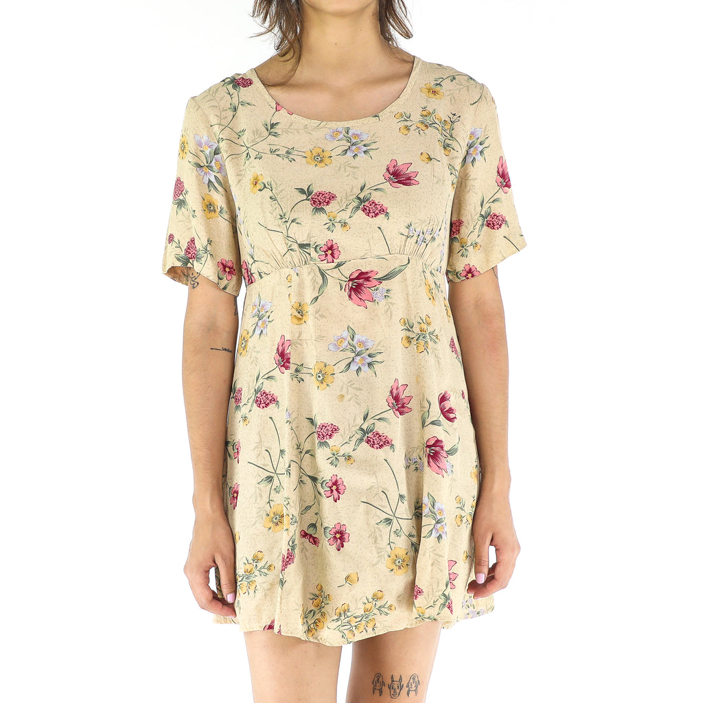 Vintage Rayon Floral Mini Dress