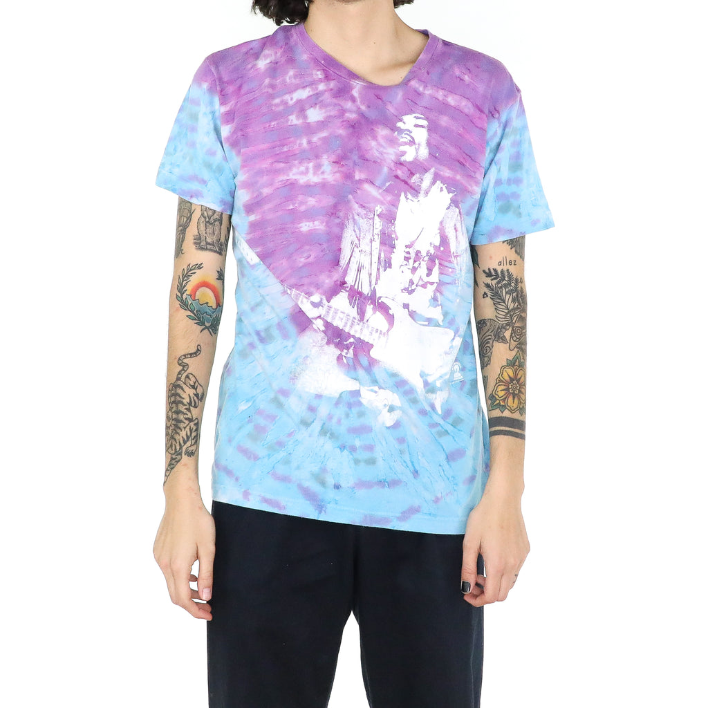 Jimi Hendrix Lavander & Baby Blue Cotton T-shirt
