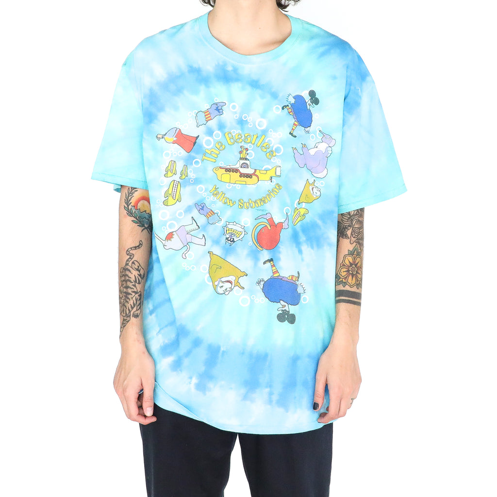 The Beatles Submarine Baby Blue Cotton Tie Dye Tshirt