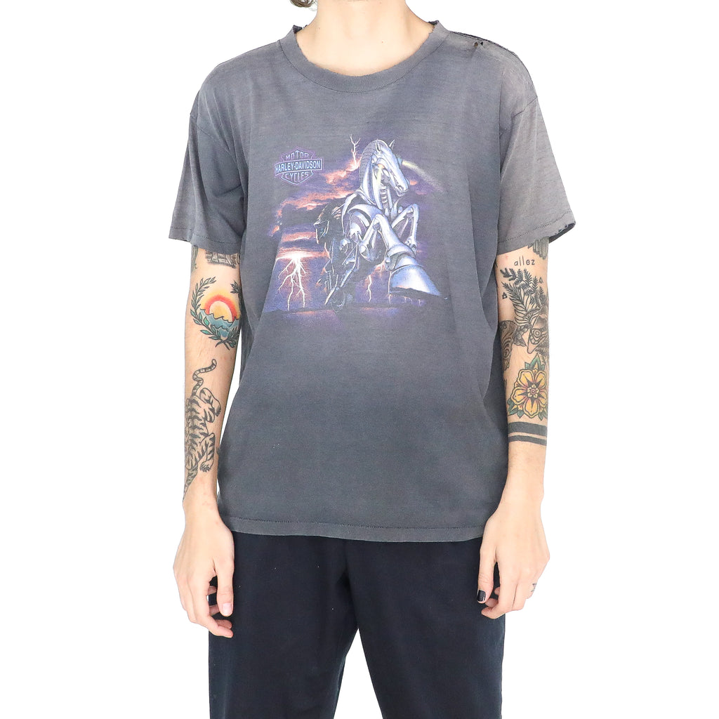 Slate Gray Cotton Baggy T-shirt
