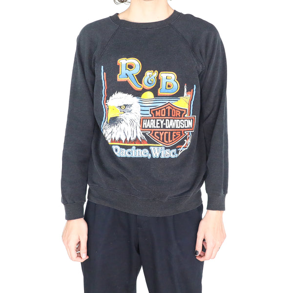 "R&B ""Harley Davidson"" Slate Gray Cotton Sweatshirt"