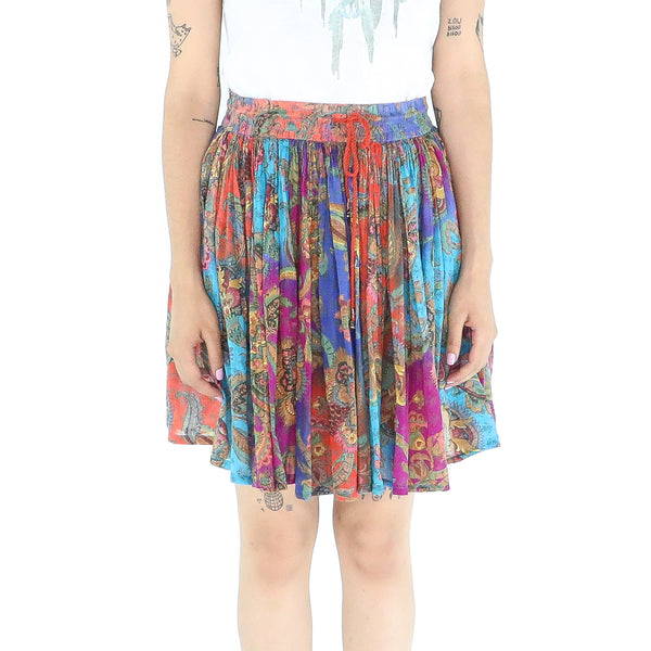 Multicolor Cotton Boho Skirt