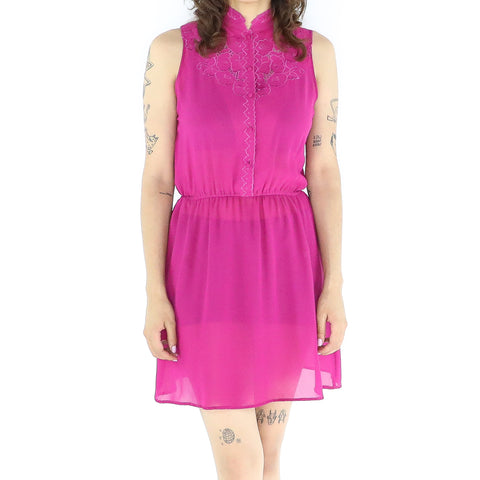Red-Violet 60's Qipao Dress