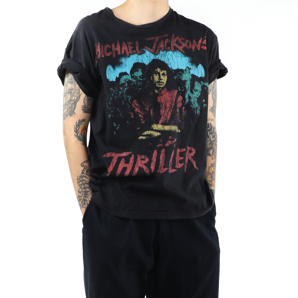 Michael Jackson Thriller Black Cotton T-shirt