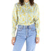 Grey & Gold Silk 80's Blouse