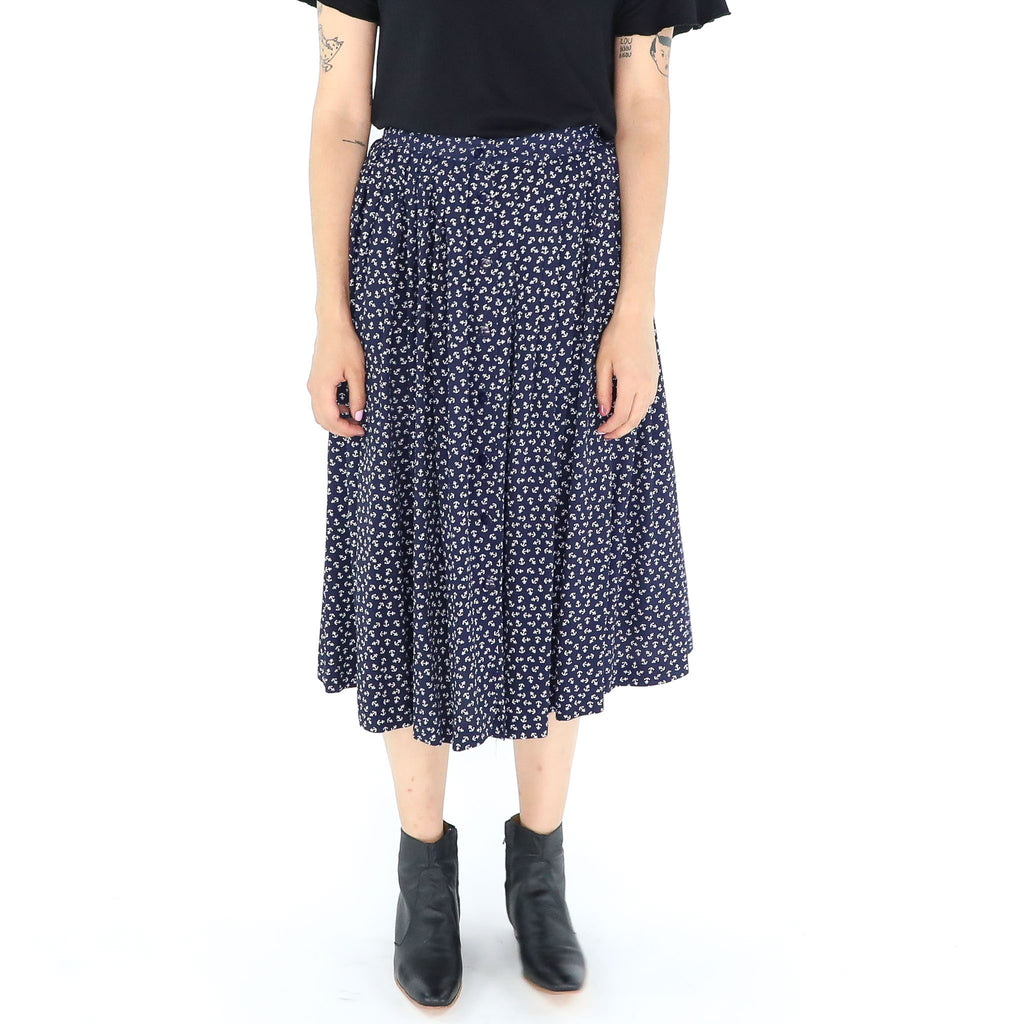 Navi Anchor Midi Skirt