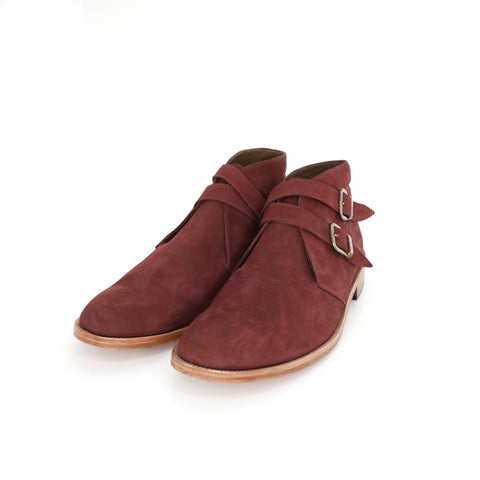 Borcego Monk - Burgundy Pull Up