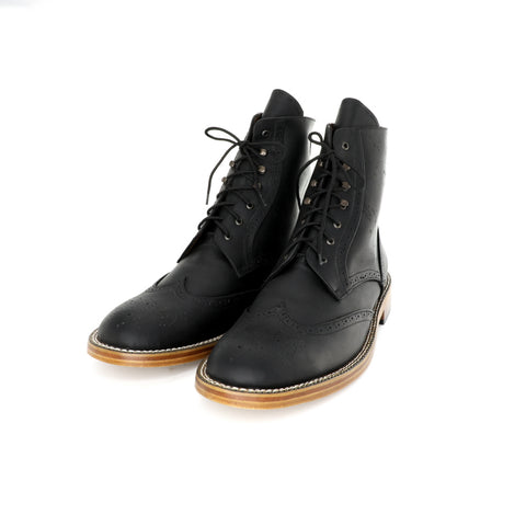 Oxford Boot - Black Pull Up