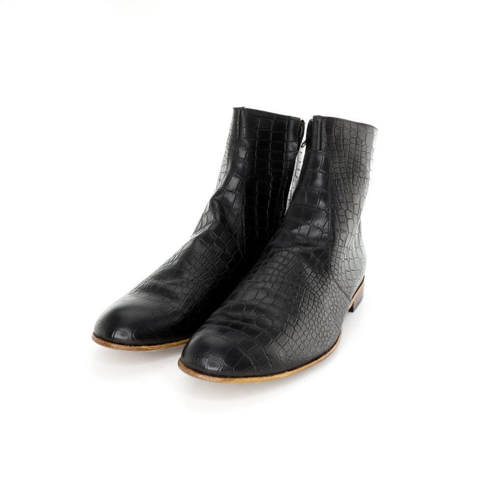 VM Boot - Black Alligator Pattern
