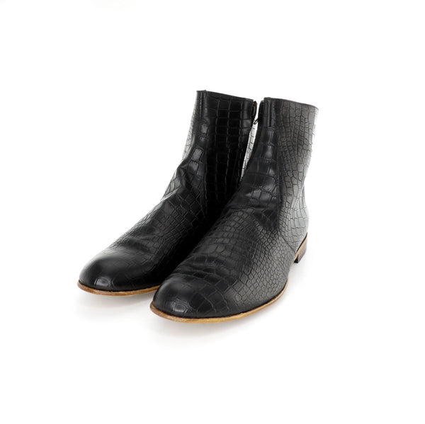 "VM Boot - Black Embossed ""Alligator"" Pattern"