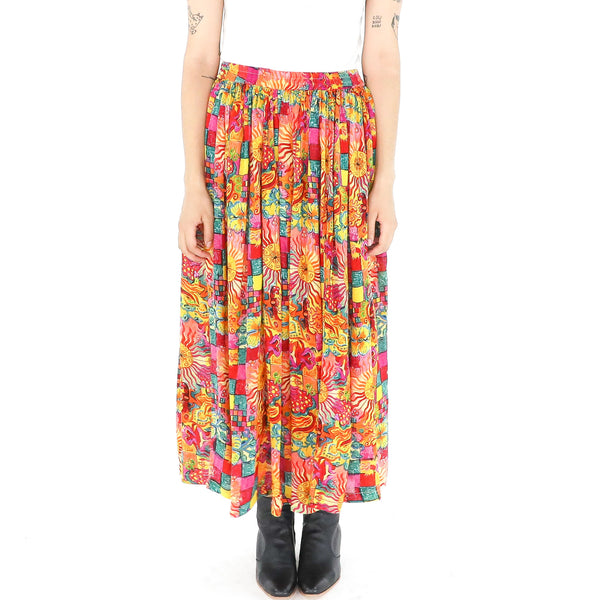 Multicolor Paisley Skirt