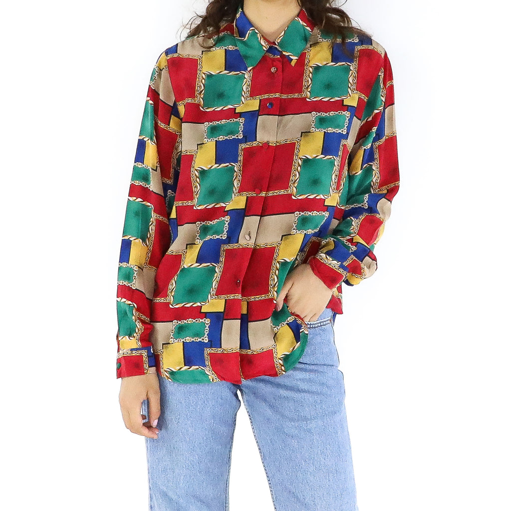 Colorful Frame Blouse