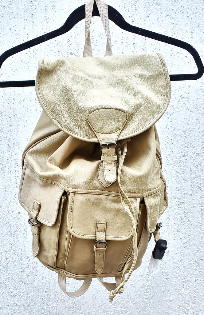 Beige Leather backpack
