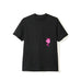 Drop Out Black Pocket Tee black pink