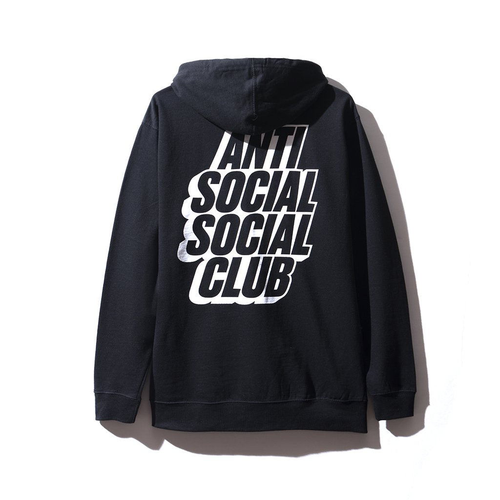 Anti Social Social Club Blocked Logo Black Hoodie