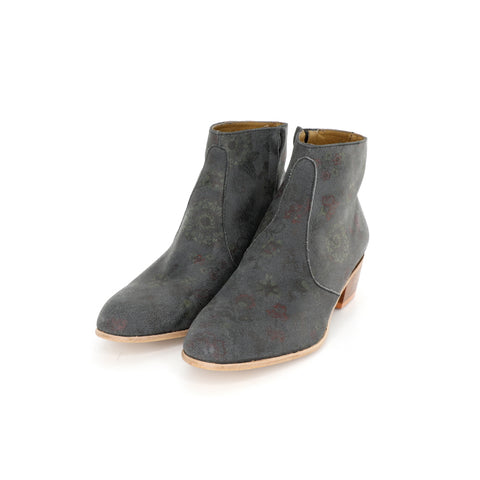 Dylan Boot - Gray with Floral Pattern
