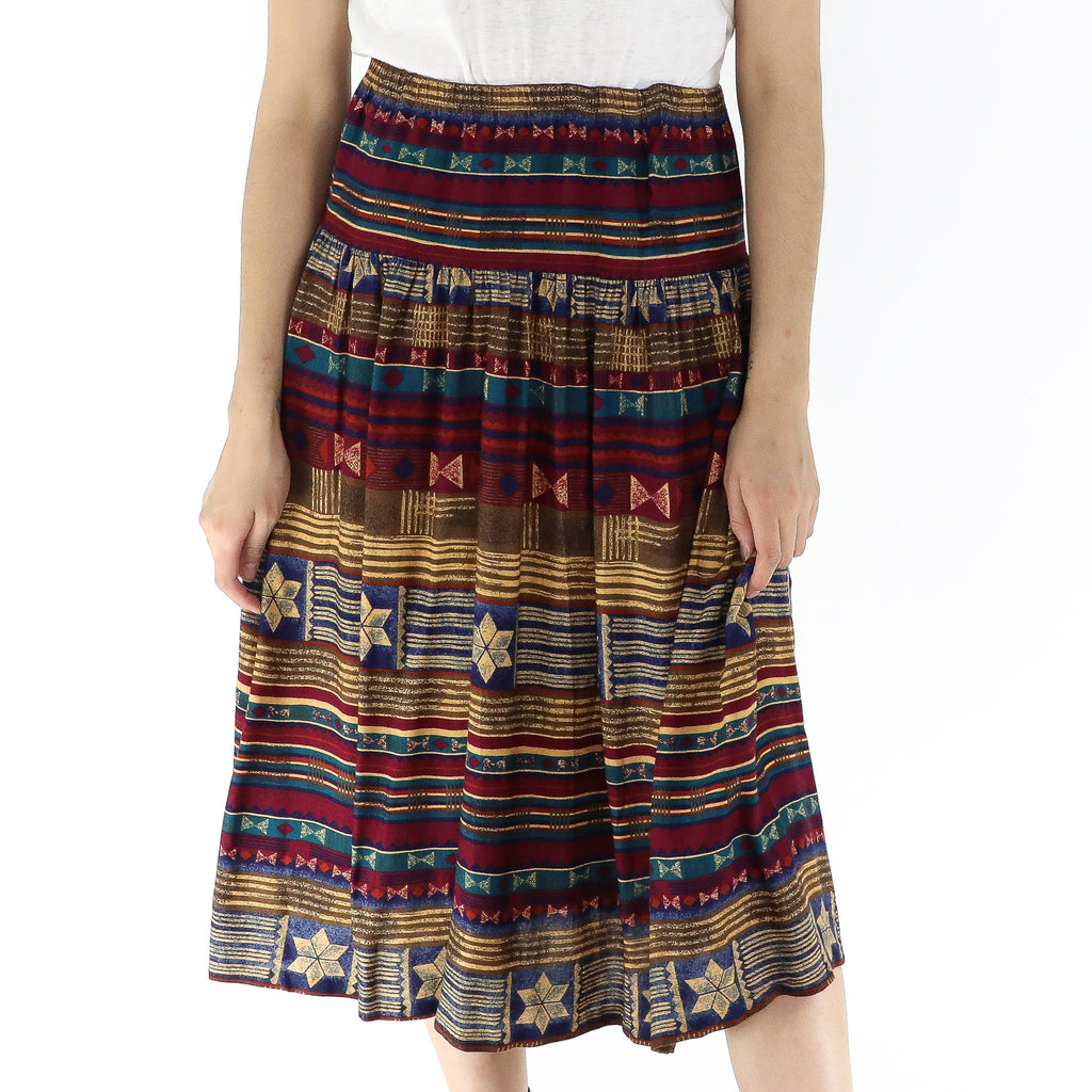 Navajo Striped Skirt