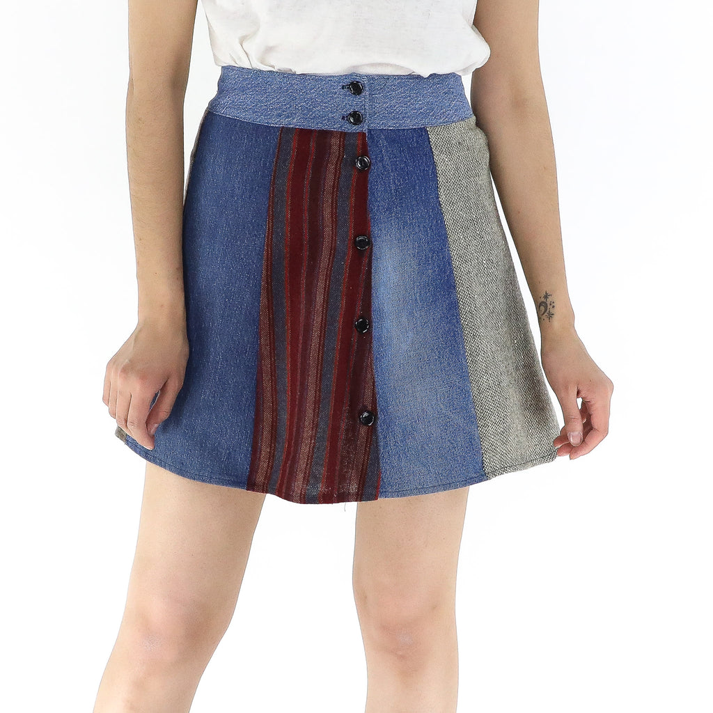 Multi Patterns Skirt