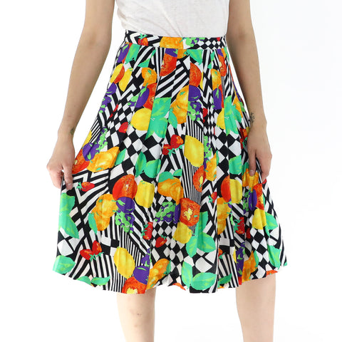 Psychedelic Fruits Skirt