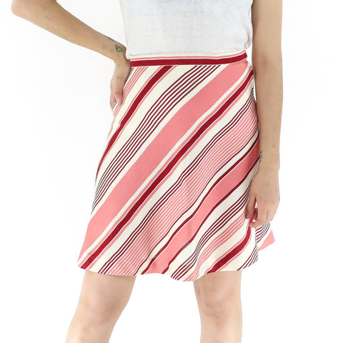 Ivory Watermelon Bayadere Skirt