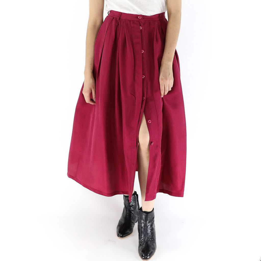 Raspberry Jam Button Skirt