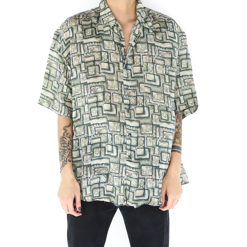 Palm Trees Geometric Squares Shirt