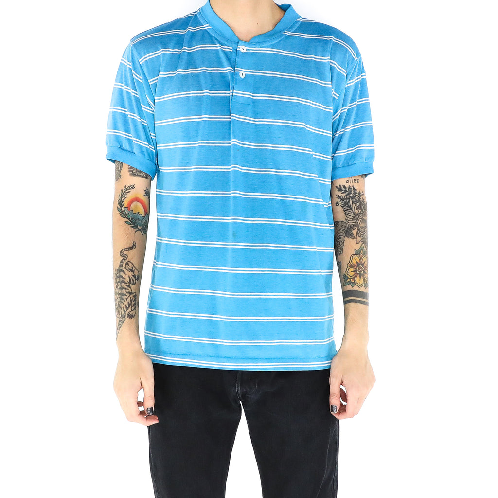 Two Stripes Blue Polo Style shirt
