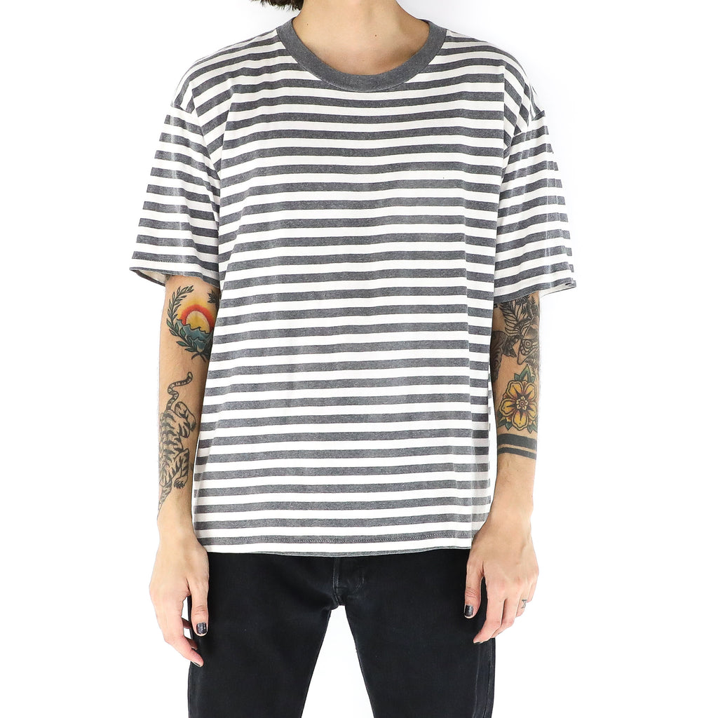 Gray & White Striped T-Shirt