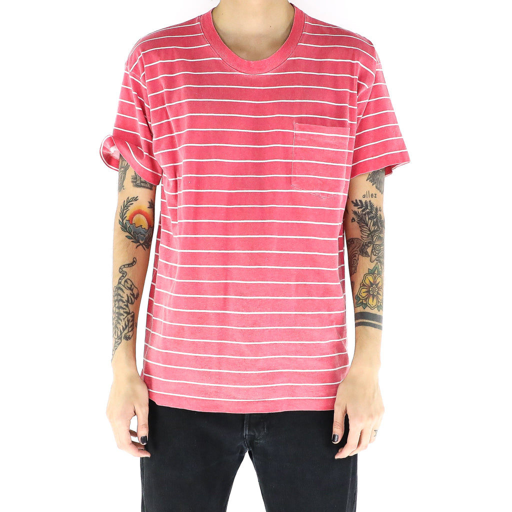 Desire Red Striped T-Shirt