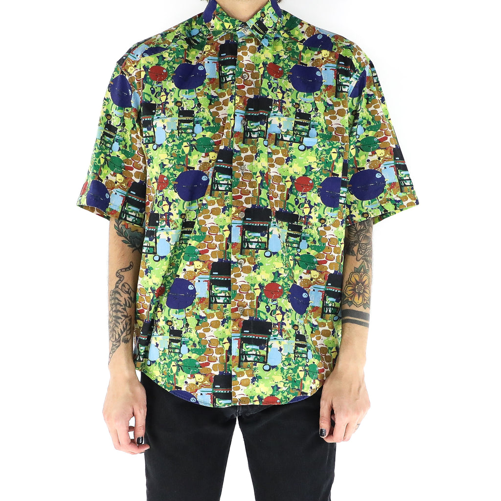 Cubist Circle Lime Shirt