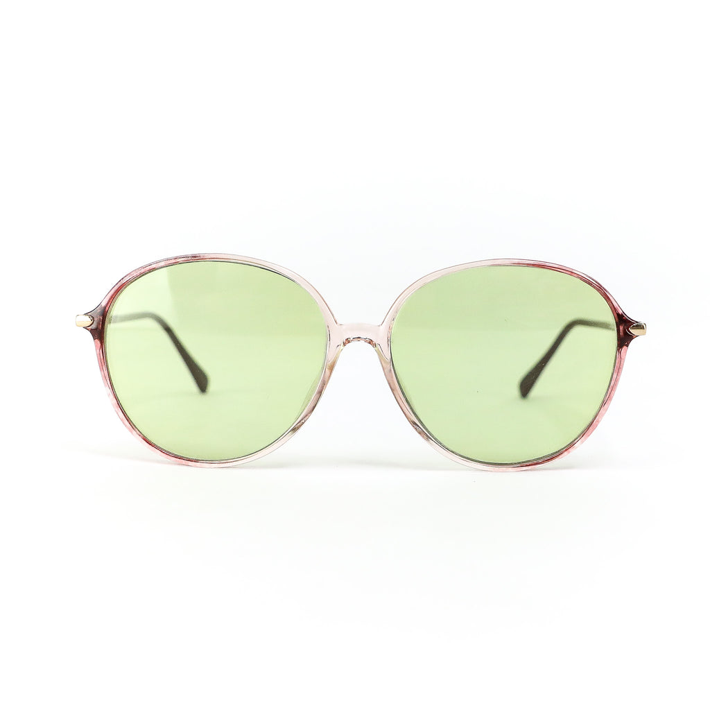 Vintage Acetate Light Green Sunglasses