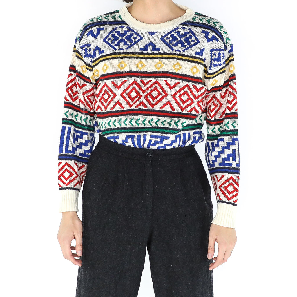 Navajo Primary Colors Sweater