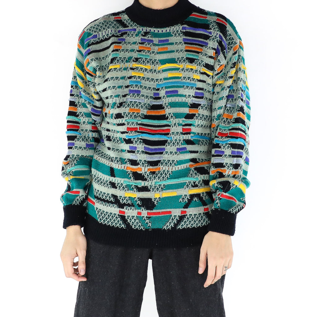 Green Chaos Sweater
