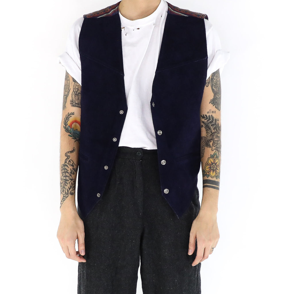 Oxford Burgundy Aztec Vest