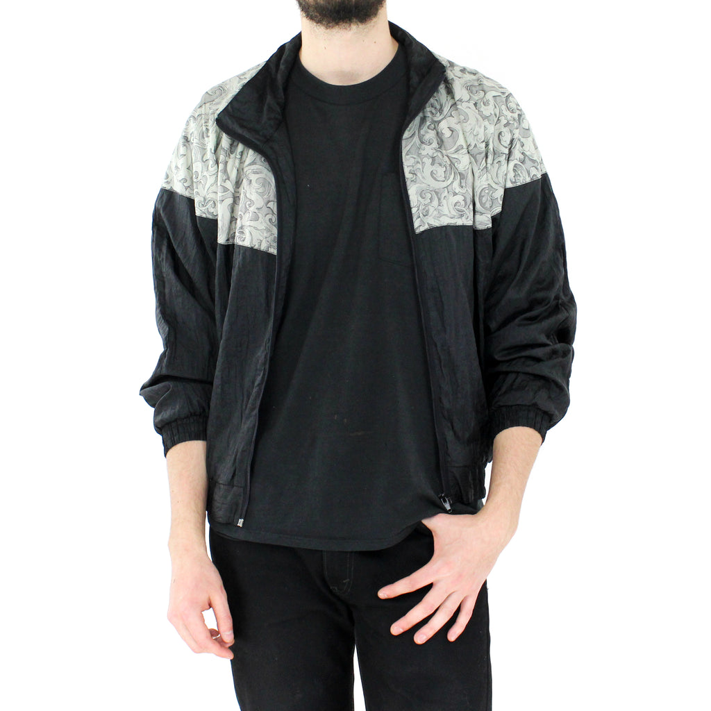 Black & Gray Bomber Jacket